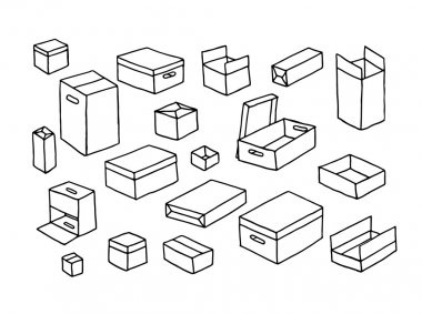 Seamless pattern with boxes.