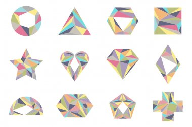 Geometrical shapes.  Isolated