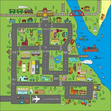 Doodle city map.
