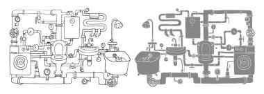 Sanitary engineering. Two versions.