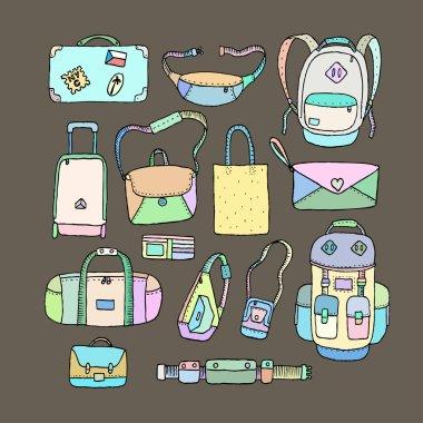 Set of Sketch Bags.