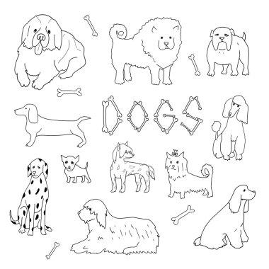 Dogs. Doodle set