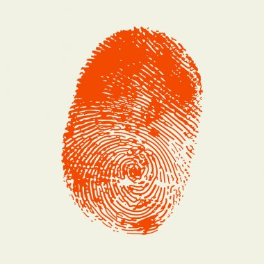 Finger print . Red color.vector stock vector