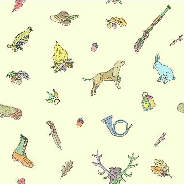 Seamless pattern. Hunting.