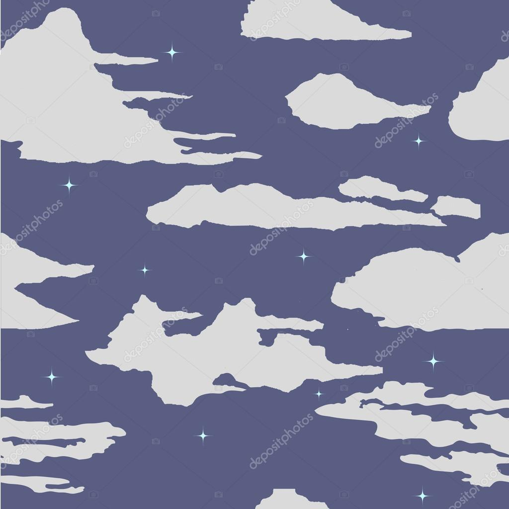 Seamless pattern with watercolor clouds.
