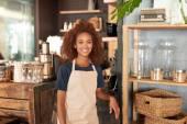 Fotografie Žena pracuje v kavárně