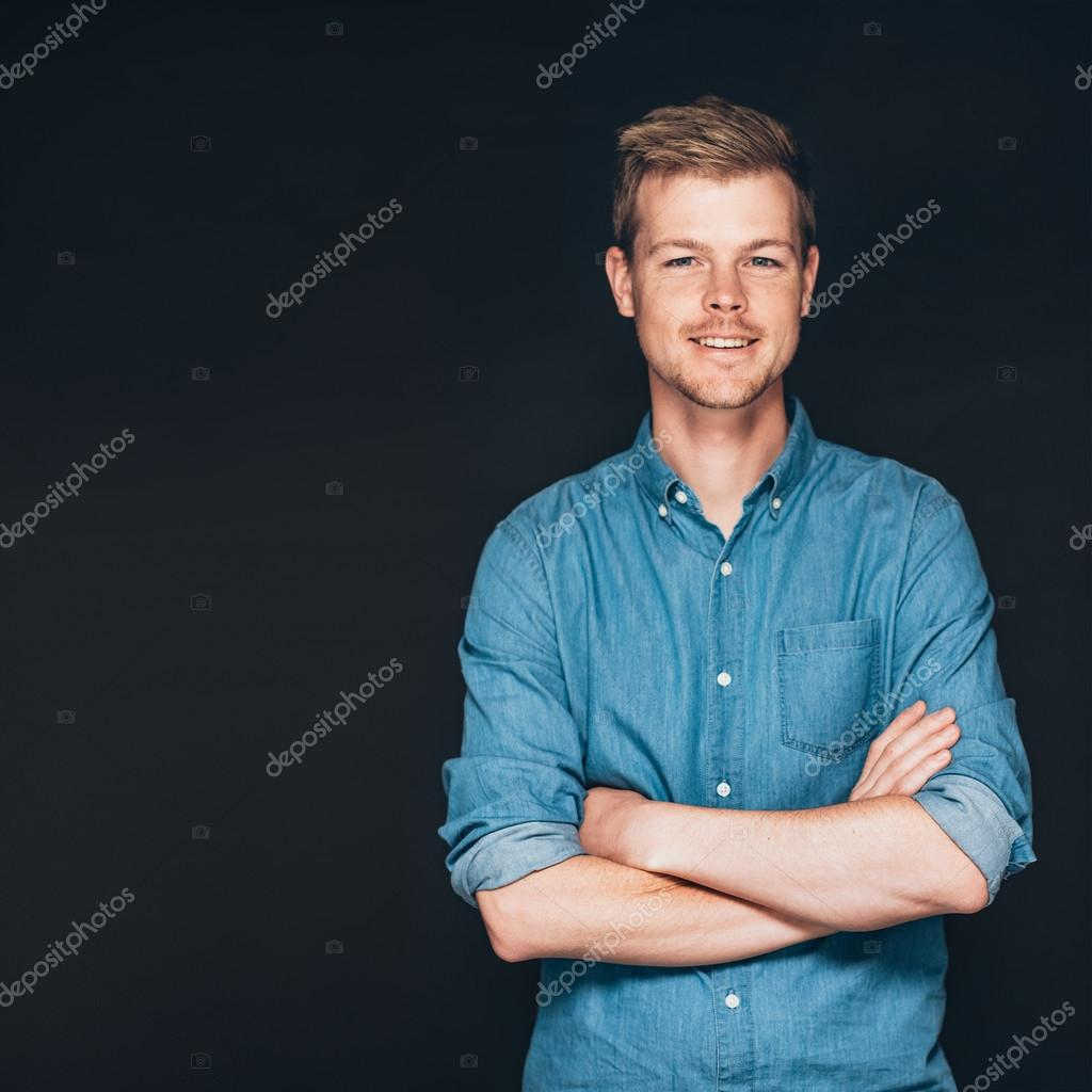 Entrepreneur standing with arms crossed
