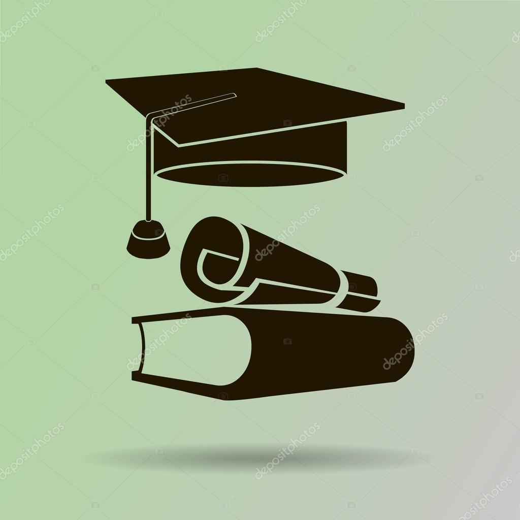 Buch Diplom Abschluss Hut Stockvektor Risovalka2015 Gmail Com