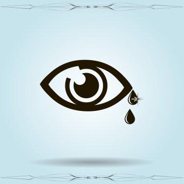 Eye sign icon