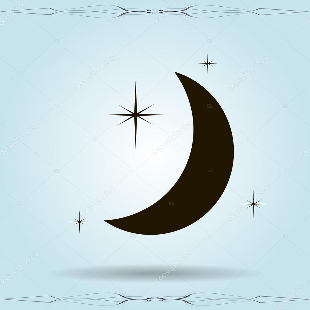 Moon & stars icon