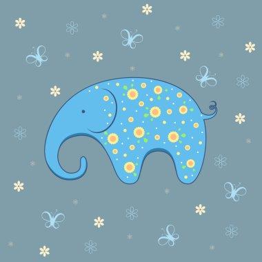 Vector illustration of elephant