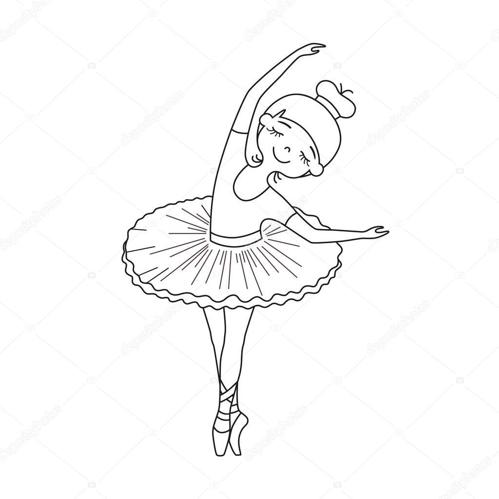 kleine Balletttänzerin — Stockvektor © olyaruta.yandex.ru ...