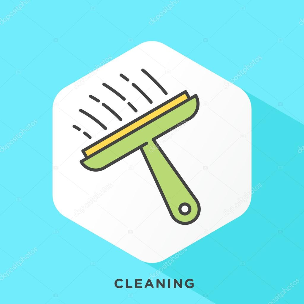 Windshield Cleaning Tool Icon