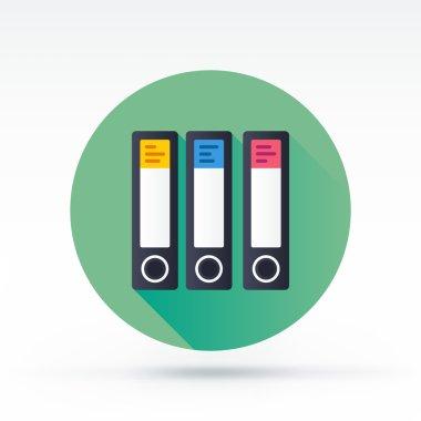 Folders vector icon