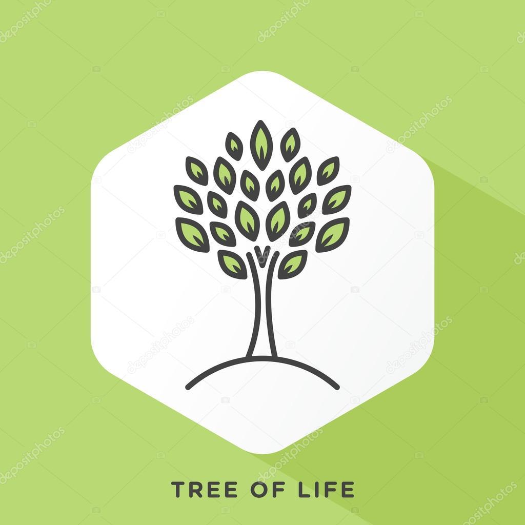 Line tree icon — Stock Vector © DenkCreative #108771614