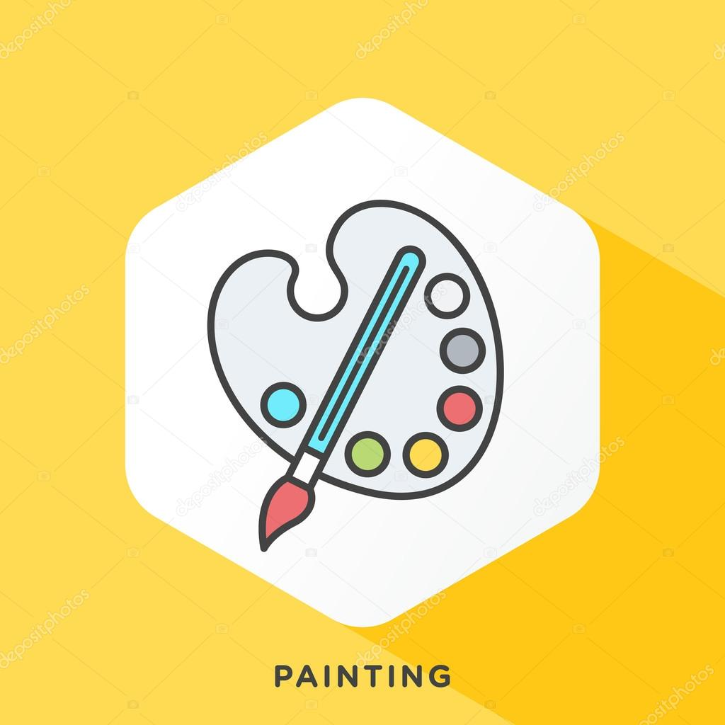 Paint brush and pallet icon