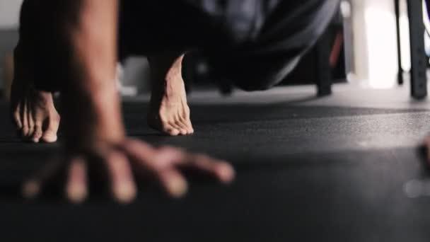 Cinematic Yoga Pushup