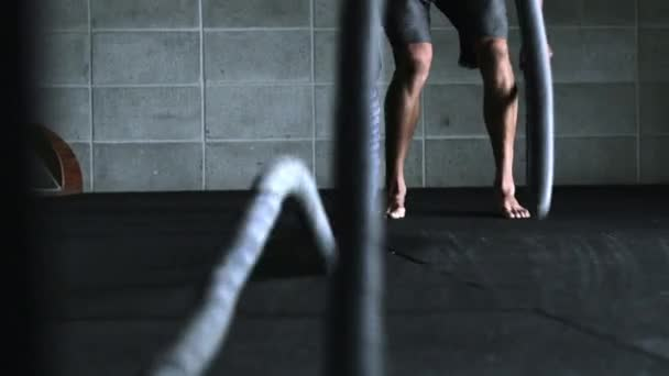 Intense Workout with Ropes