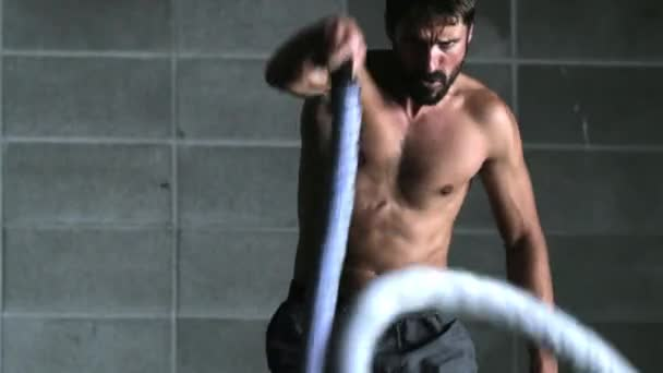 Crossfit Athlete with Ropes