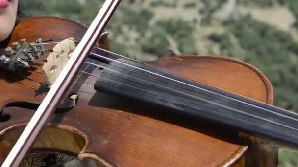 Žena hrající na housle