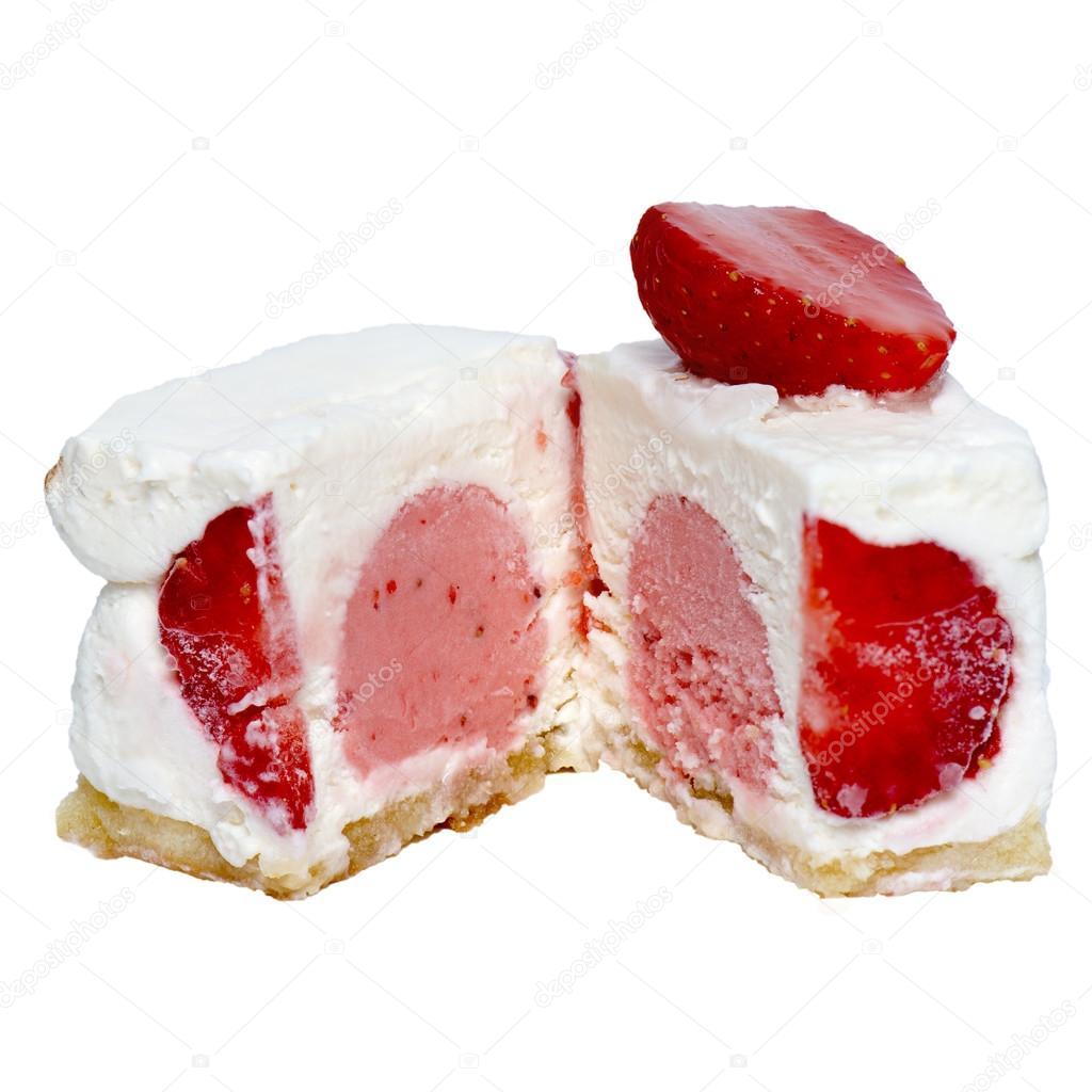 Würfel Eis mit Früchte und Nüsse, verschiedene Farben — Stockfoto ...