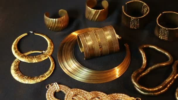 Set of Beautiful Oriental gold jewelry (Indian, Arab, African, Egyptian)