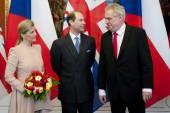 Žofii, Prince Edward a předseda Miloš Zeman
