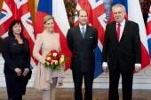 Ivana Zemanova, Žofii, Prince Edward a předseda Miloš Zeman