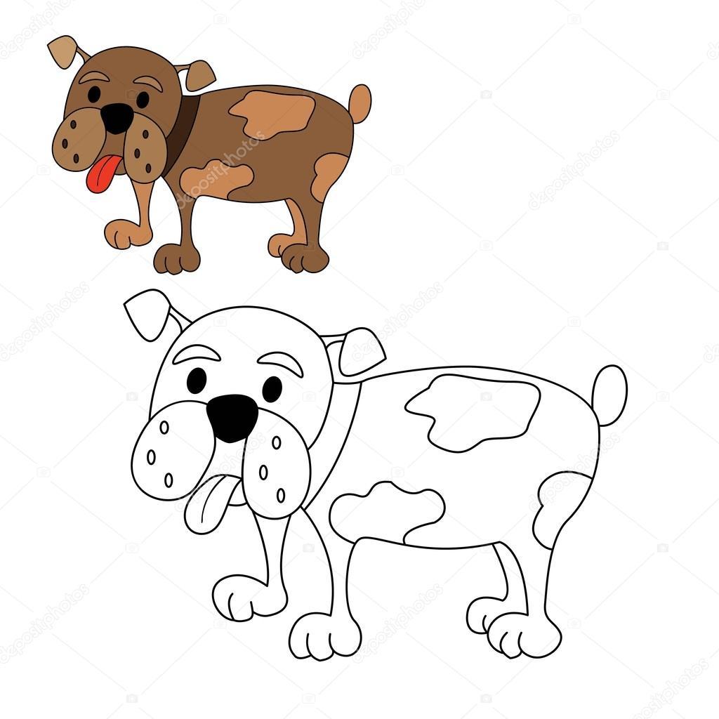 Colorazione di cane bulldog vettoriali stock dojdis - Colorazione immagine di un cane ...