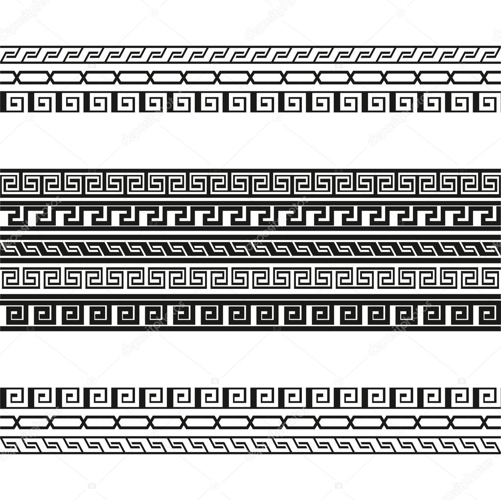 Greek key pattern background. Vector.greek fret meander ...