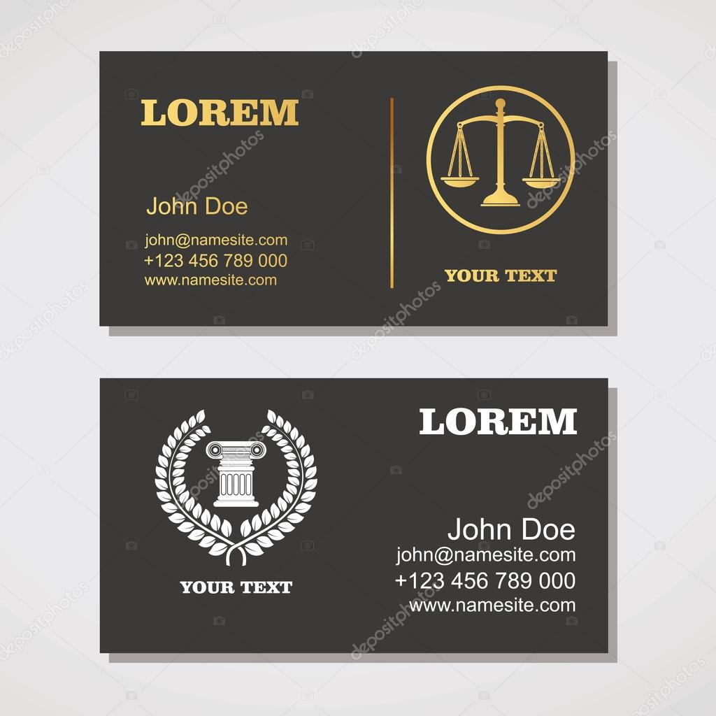 Law Firm,Law Office, Lawyer services.Business card design templa ...
