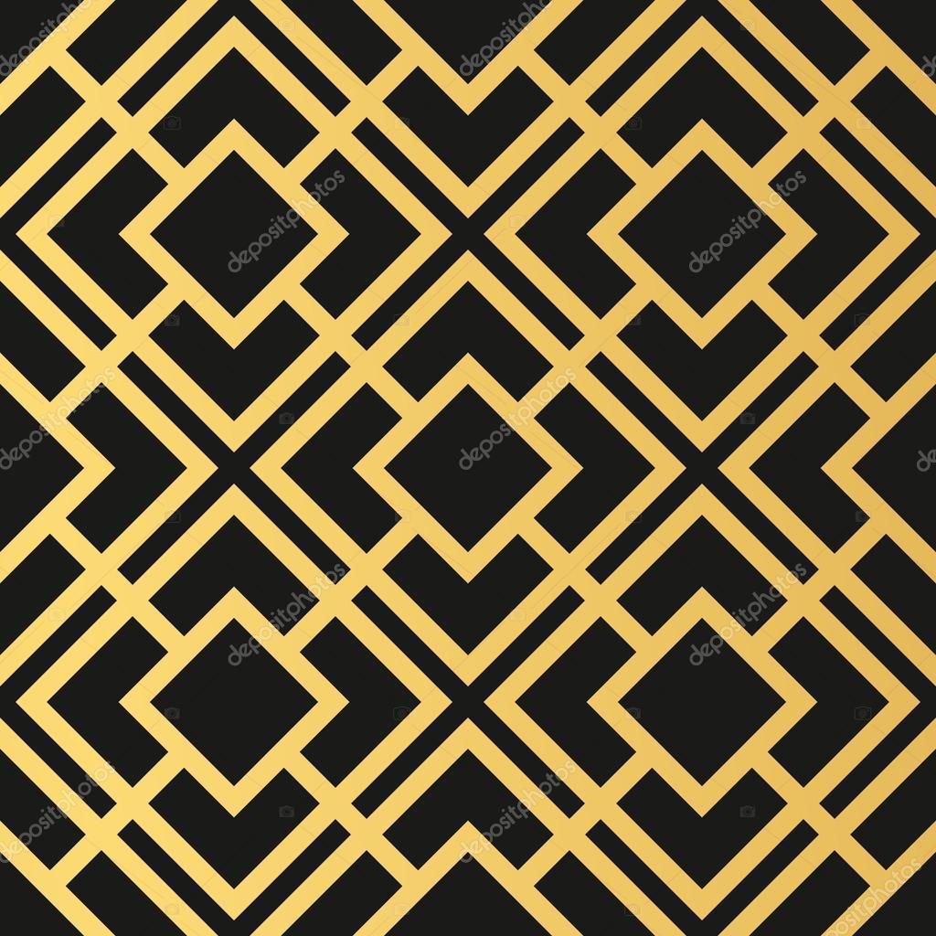 attractive Art Deco Geometric Wallpaper Part - 17: Art Deco seamless vintage wallpaper pattern. Geometric decorativ u2014 Stock  Vector