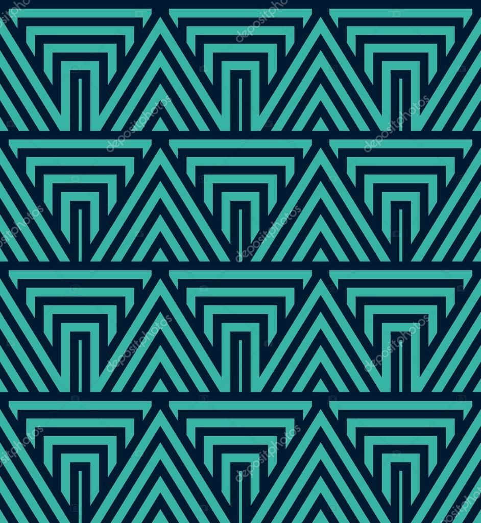 Art Deco motif de papier peint sans soudure Decorativ géométrique u2014 Image vectorielle
