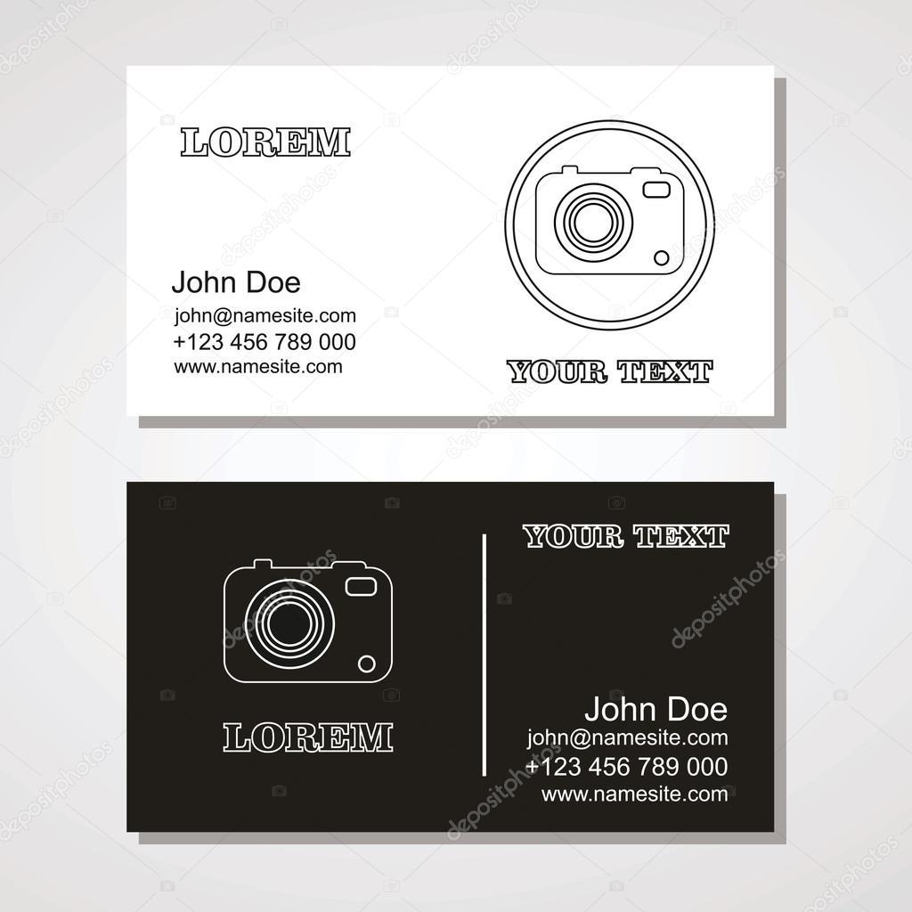 Visitenkarte Für Fotografen Oder Grafiker Fotostudio
