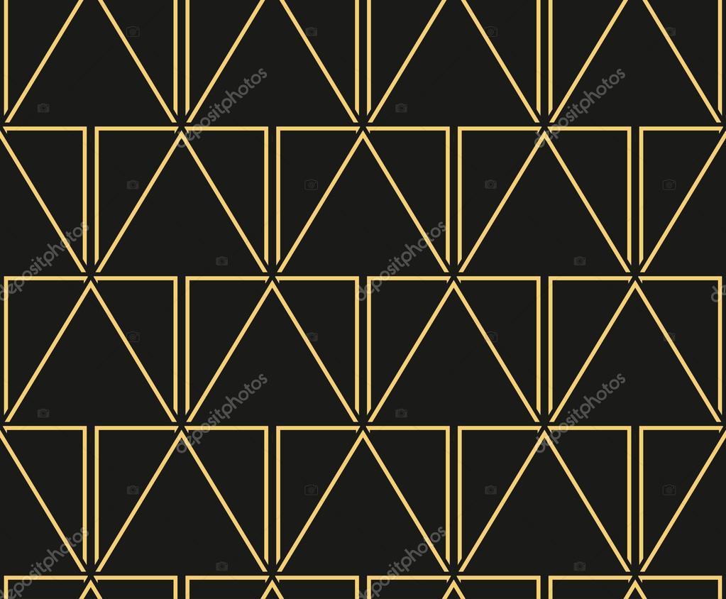 fascinating Art Deco Geometric Wallpaper Part - 20: Art Deco vintage wallpaper pattern. Geometric decorative pattern u2014 Stock  Vector