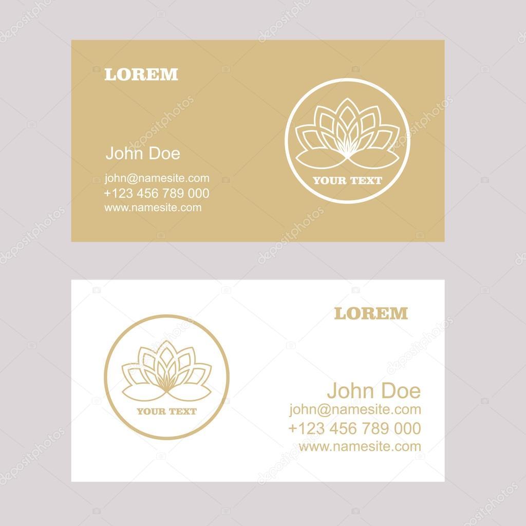 Lotus Logo,Vector Logo Template.Business card. — Stock Vector ...