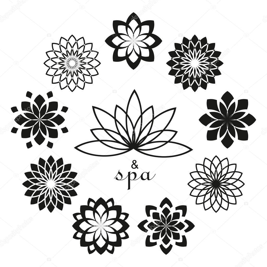Lotus Design-Vorlage für Spa, Yoga, Gesundheitswesen Stil Logos. Lo ...