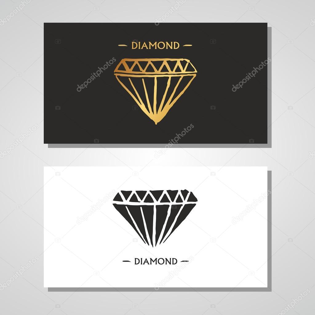Business card setdiamond logome company stock vector business card setdiamond logome company vector by mykhaylovataliaail magicingreecefo Choice Image