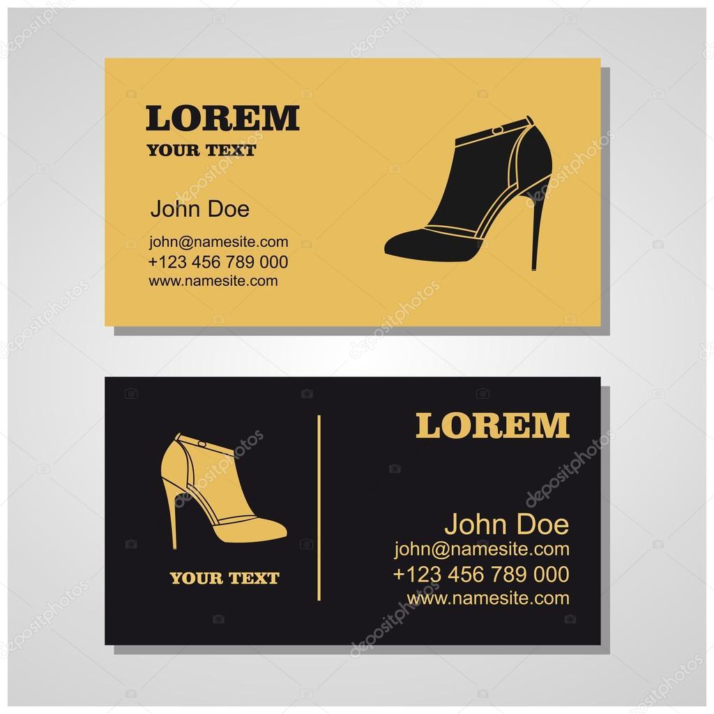 Women39s shoe vector business cardbeautiful high heels for Business cards for women