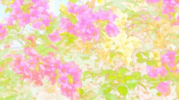 absztrakt virág színszűrők háttérrel