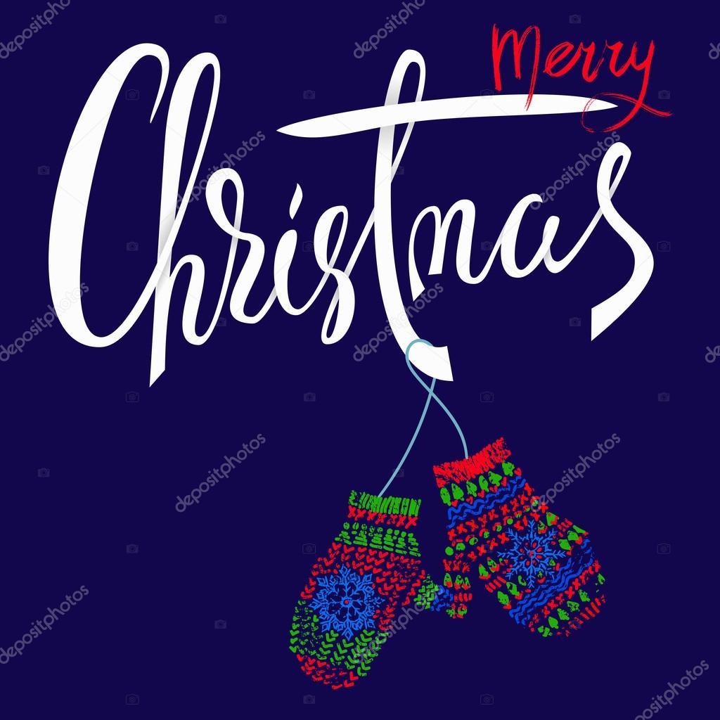 Weihnachtskarten Per Mail.Frohe Weihnachten Handgezeichneten Schriftzug Für Weihnachtskarten