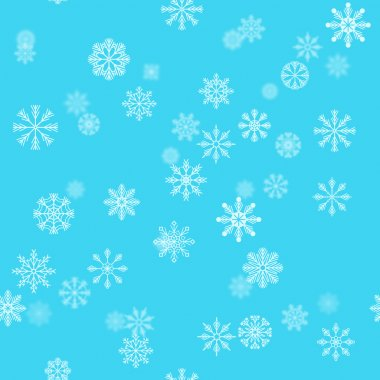Christmas holiday background with snowflakes. Winter pattern