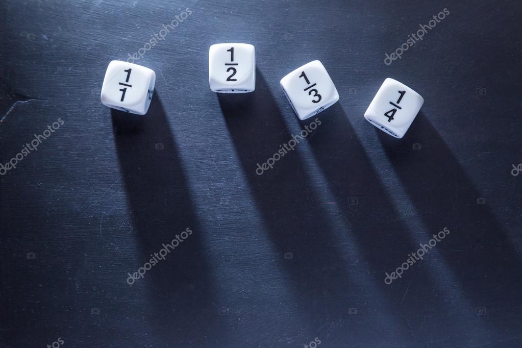 黒板では、分数演算数サイコロを...