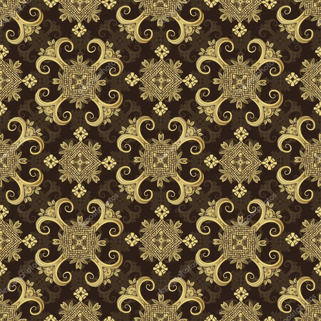 Gold Wallpaper Wrapping Repeatable Background Textile Print Oriental Texture Abstract Indian Vector By Eva Che
