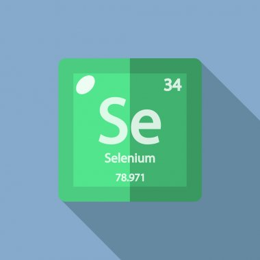 Chemical element Selenium Flat