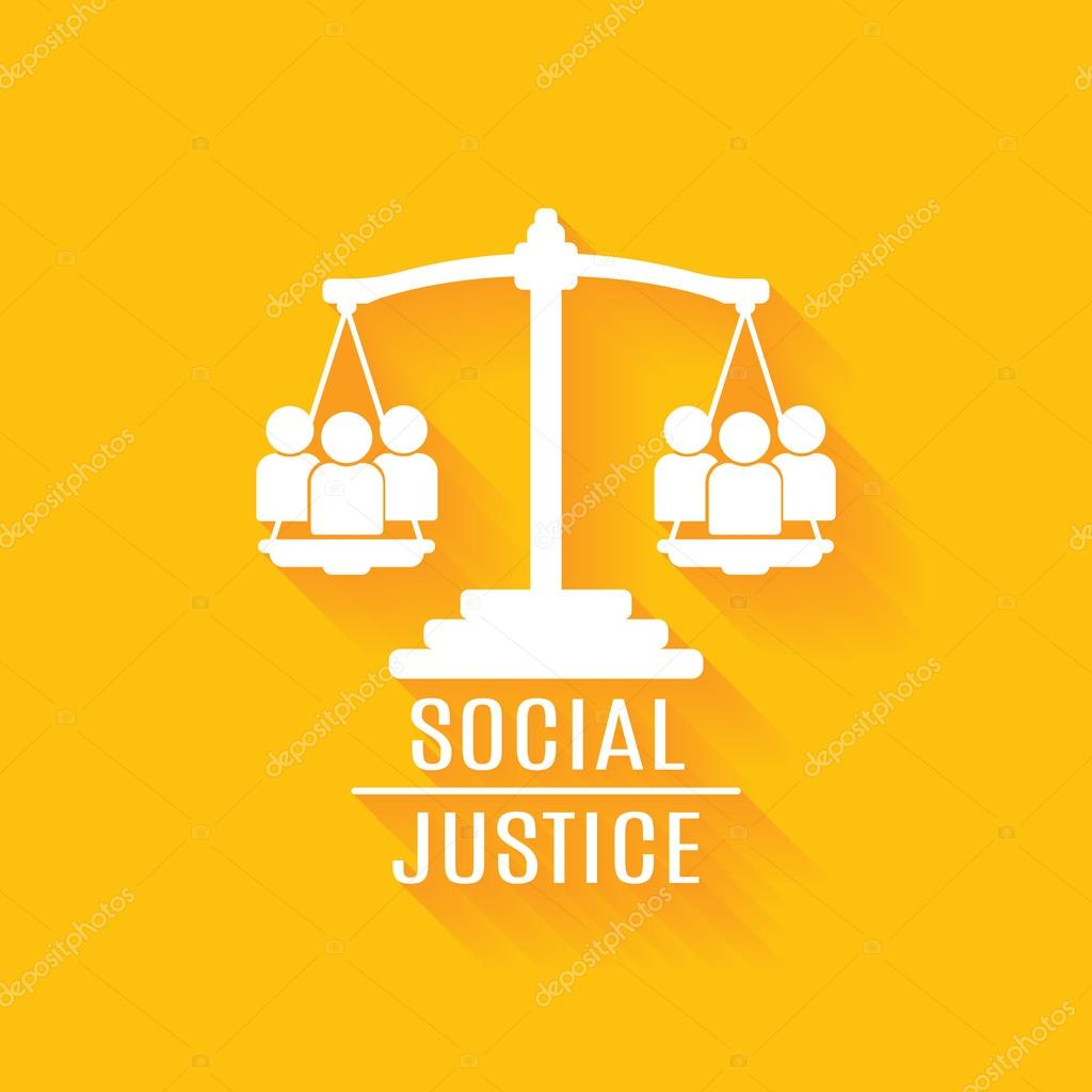 Vector Logo Justicia Social Justicia Social Vector Plano Vector