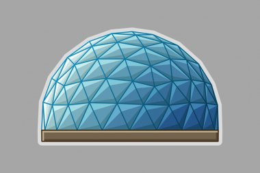 Icon geodesic dome flat