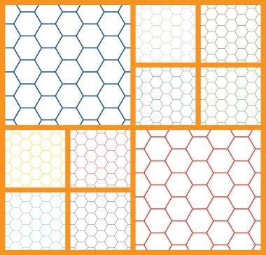 hexagonal cell white background