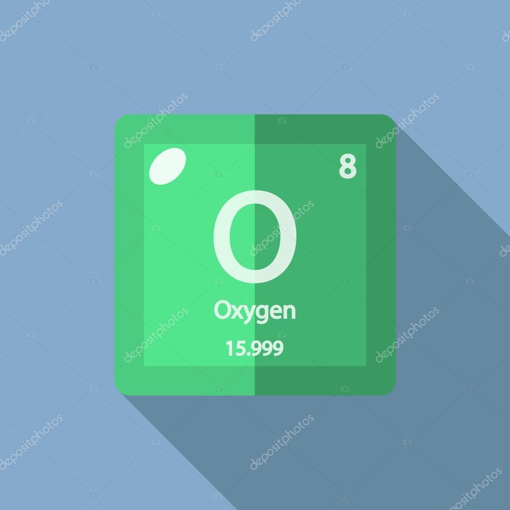 Chemical element oxygen flat stock vector yuraartbrushail chemical element oxygen flat stock vector buycottarizona Choice Image