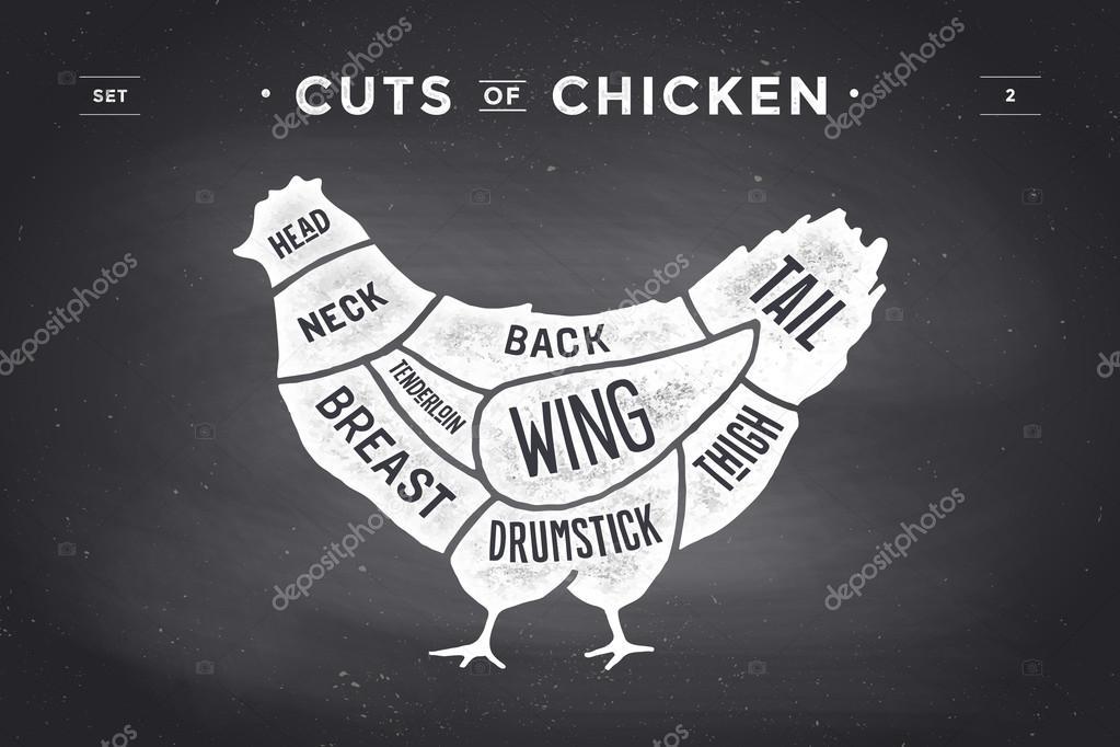 Coupe de viande ensemble. Diagramme de boucher affiche et régime ...